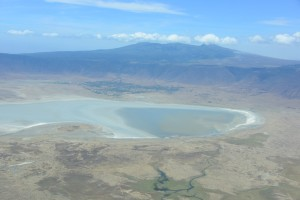 We flew right over the crater..