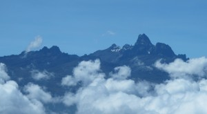 The peaks of Batiaan, Lenana and Niliaan...