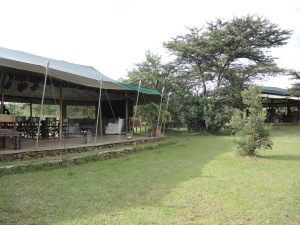 Richard's Camp, dining room and lounge area overlooking the water course.