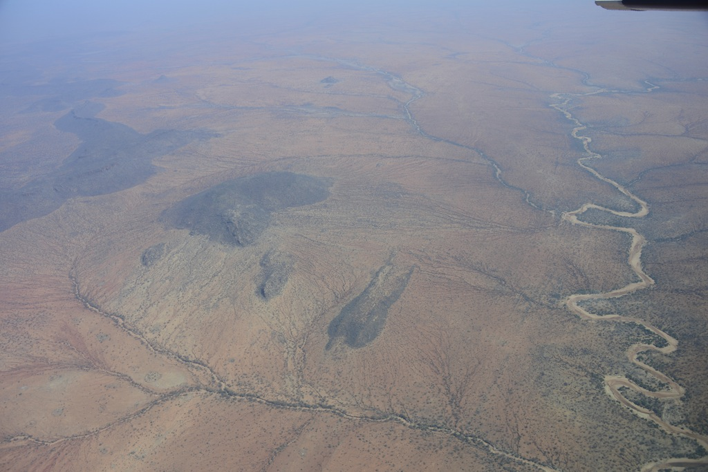 Aerial View, Samburu. No grass in September. A dry river of life!
