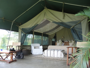 Richard's Camp tents are all 'river facing' with great views.
